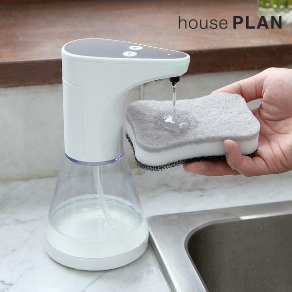 자동 센서 주방세제 손세정제 디스펜서(480ml), 블랙