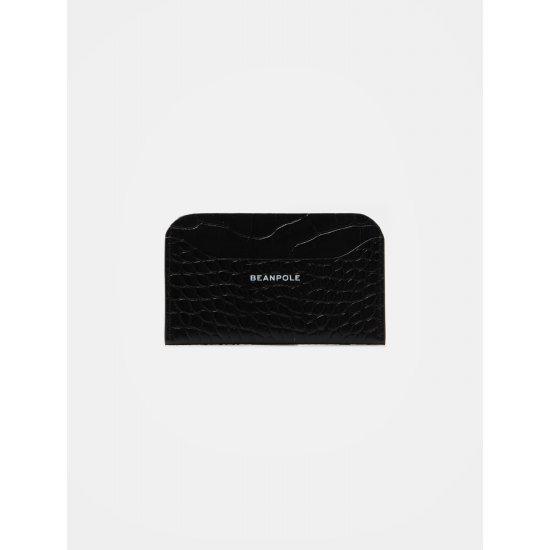 빈폴레이디스 블랙 파이톤 레더 카드 지갑 여성카드/명함지갑