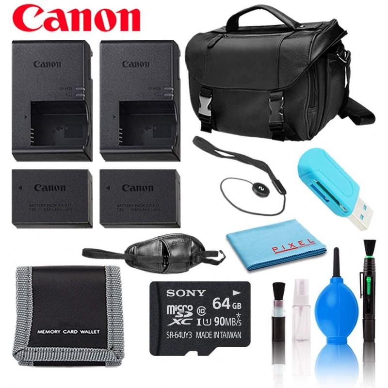Canon (2) LP-E17 배터리 및 (2) LC-E17 충전기 중대한 거래 충전 액세서리 번들 EOS 77D RP M100 M3, 단일상품