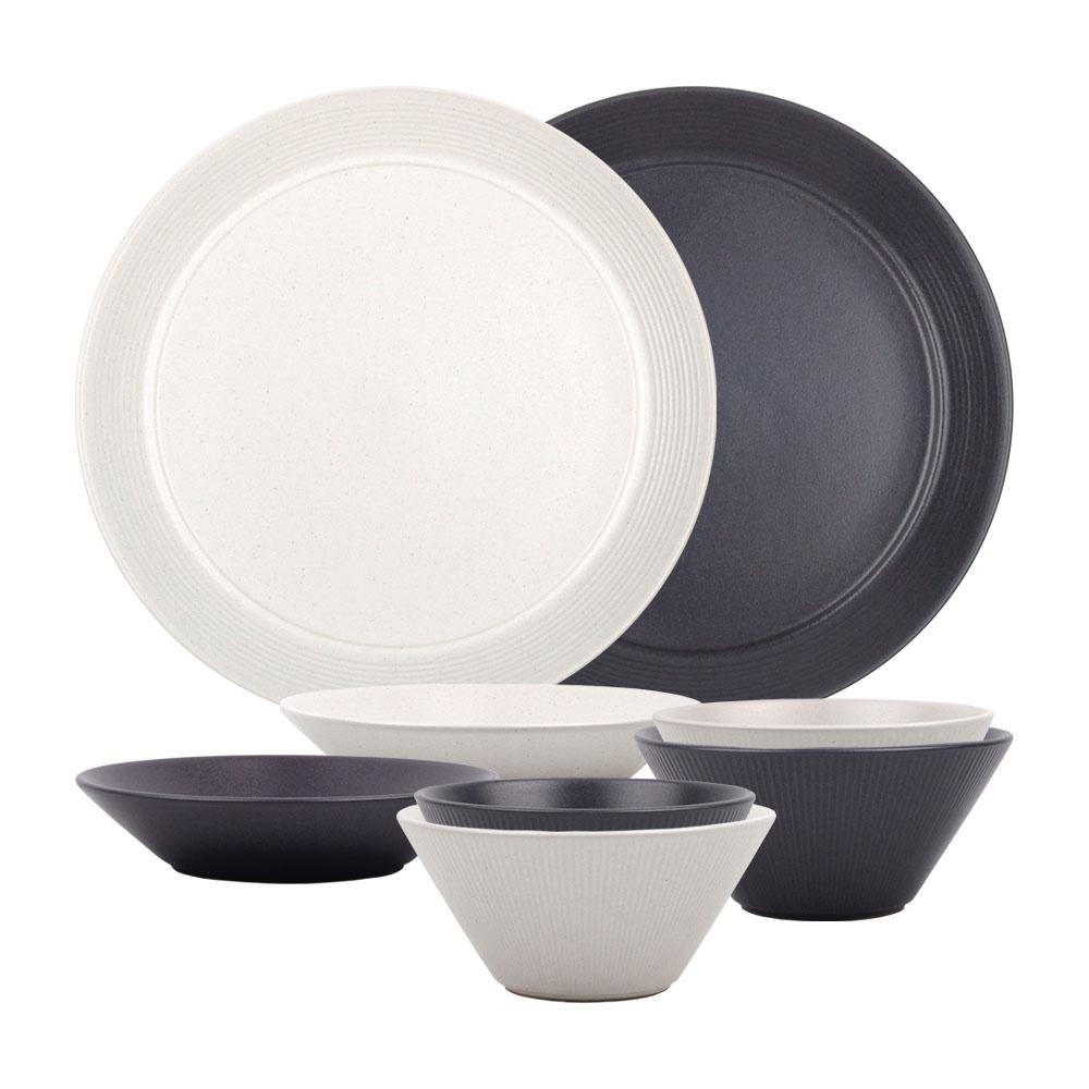 오덴세 아틀리에 코드 2인 세트 8P 한식기 혼수 그릇 접시 밥그릇 국그릇 찬기 식기
