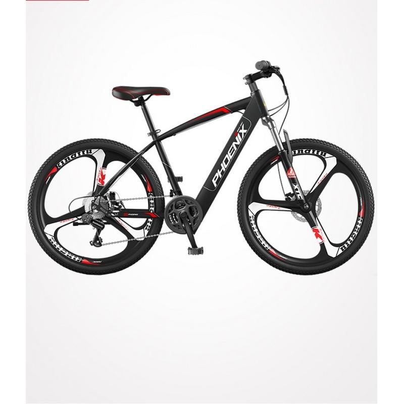 전기자전거 피닉스 산악 자전거 26 인치 가변 속도 오프로드 전원 산악 자전거 리튬 배터리 남녀 배터리 자동차 접이식 전기자전거 (POP 5428806121)