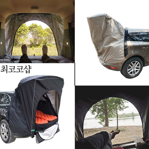 [Laugh] SUV용 차박 도킹 텐트 대형 중형 차량용 트렁크 카 캠핑 투싼 펠리세이드 싼타페 QM6 티볼리, 2인용, 01. 차박텐트(디지털)