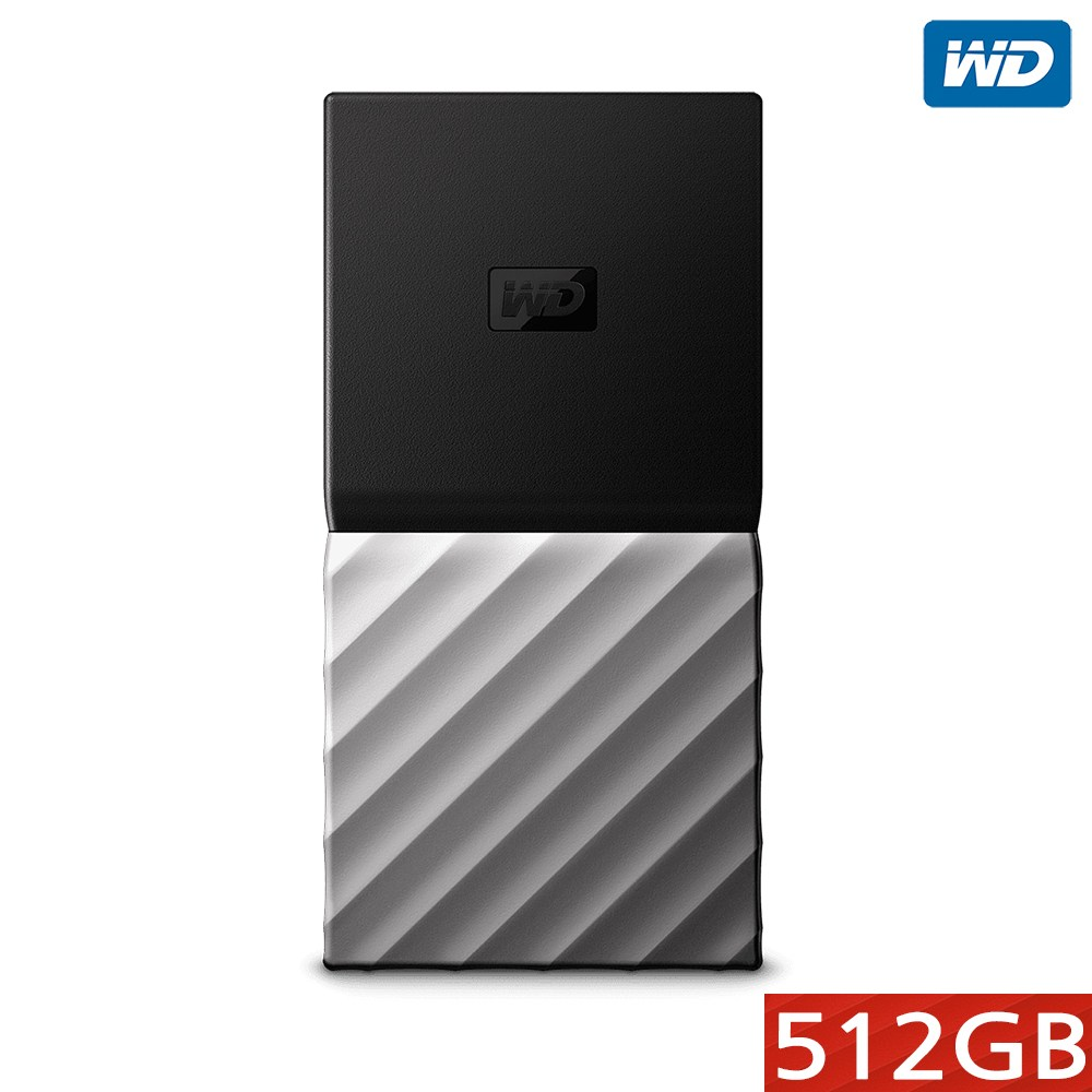 WD MY PASSPORT 외장 SSD 256 512 1T 2T, 블랙+메탈그레이, 512GB