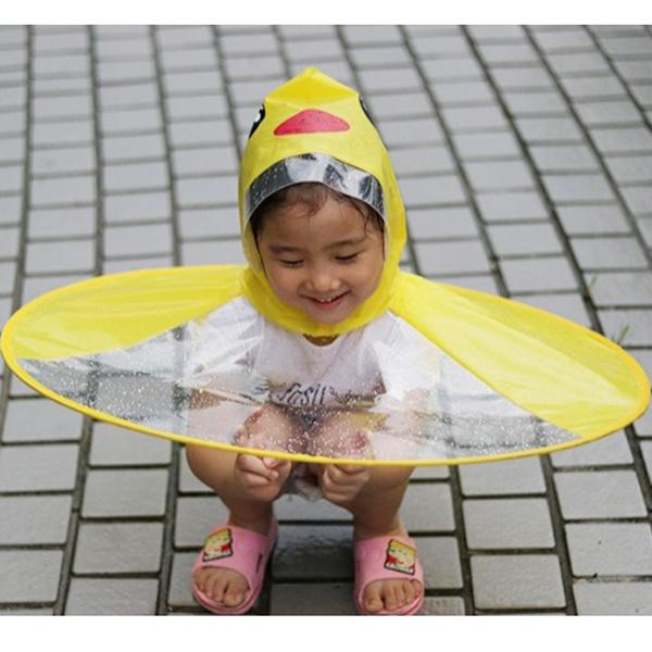 포커스 오리우비모자 모자우산 아동우산 어린이우산 우비