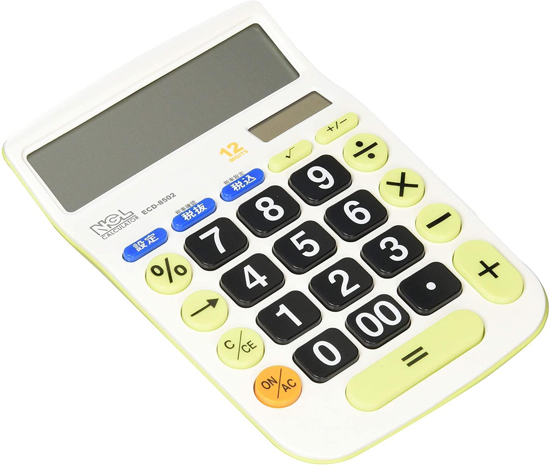 3.예상수령일 2-6일 이내 나 카바 야시 (Nakabayashi) 나 카바 야시 계산기 12 자리 대형 키 M 세금 계산, 상세 설명 참조0, 상세 설명 참조0
