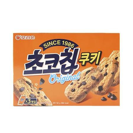 출출할때 오리온 초코칩쿠키 192g 사무실 유치원 회사 간식 쿠키 과자 학원 어린이집 공부방, 상세페이지 참조