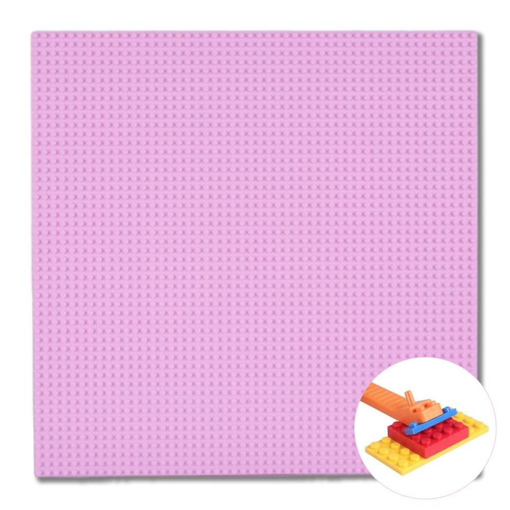 토이다락방 레고판 40*40cm 대형 놀이판 밑판 레고호환블록, 핑크+레고분해기