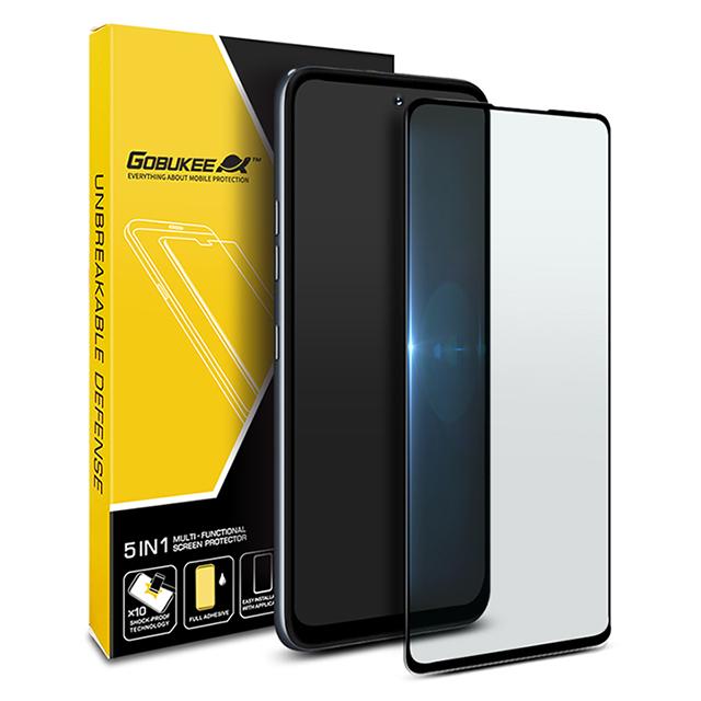 고부기 LG Q92 투명 강화유리필름, 없음