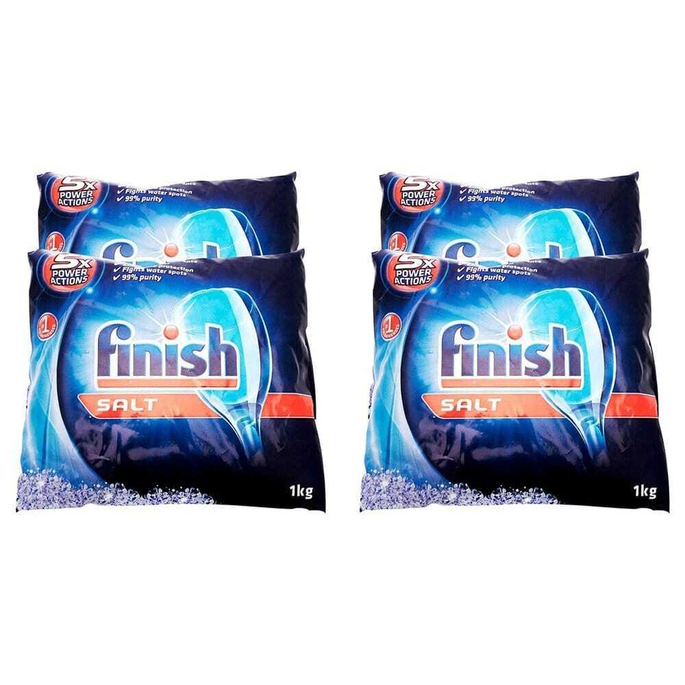Finish Dishwasher Performance Salt Bag 피니쉬 식기 세척기 퍼포먼스 소금 1kg(2.2 Lbs) 4팩