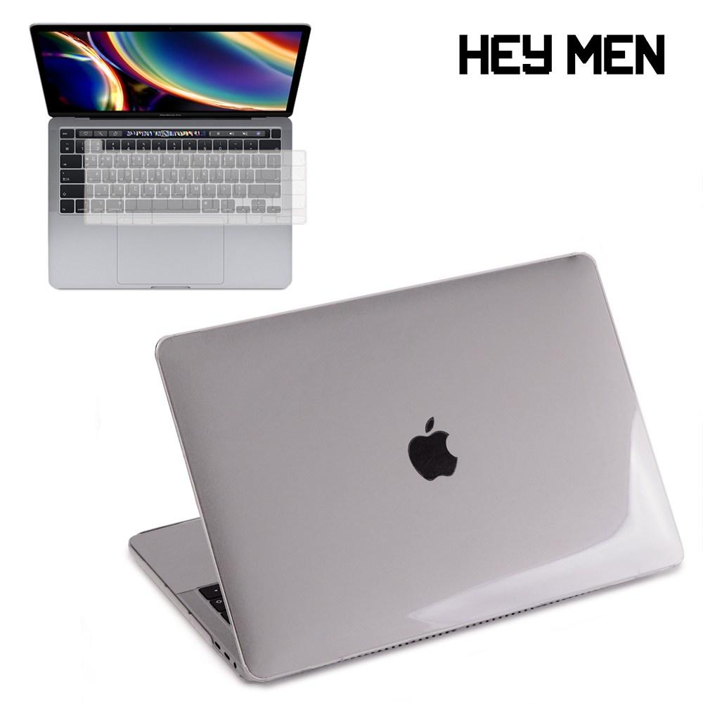 헤이맨 맥북프로 M1 13인치 2020 A2338 A2251 A2289 투명 하드 케이스 + 키보드 스킨, 투명 케이스 + 투명 키스킨