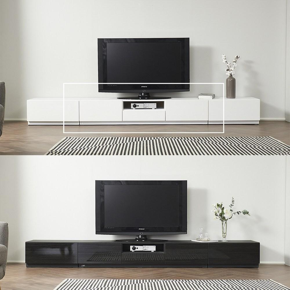 에반 1500 600 화이트 블랙 TV 낮은 거실장 거실 수납장 장식장 테이블 티비다이 선반, 에반 600 협탁