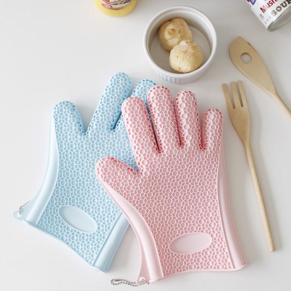 [라라하우스] 아이엠 실리콘 오븐장갑1P (주방장갑), 1p, 핑크