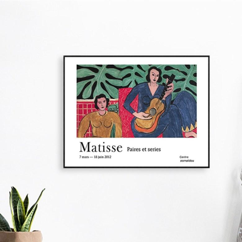 Henri Matisse Fauvism 두꺼비집 가리개 배전함 커버 액자 덮개 마티스 명화 아르데코 페인팅, 005