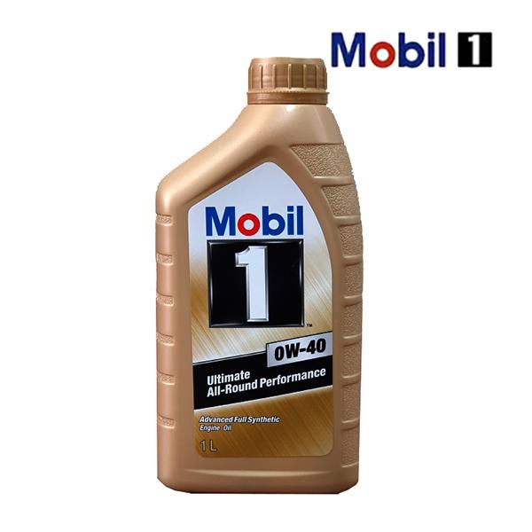 모빌1 골드 0W-40 엔진오일 1L, 1개