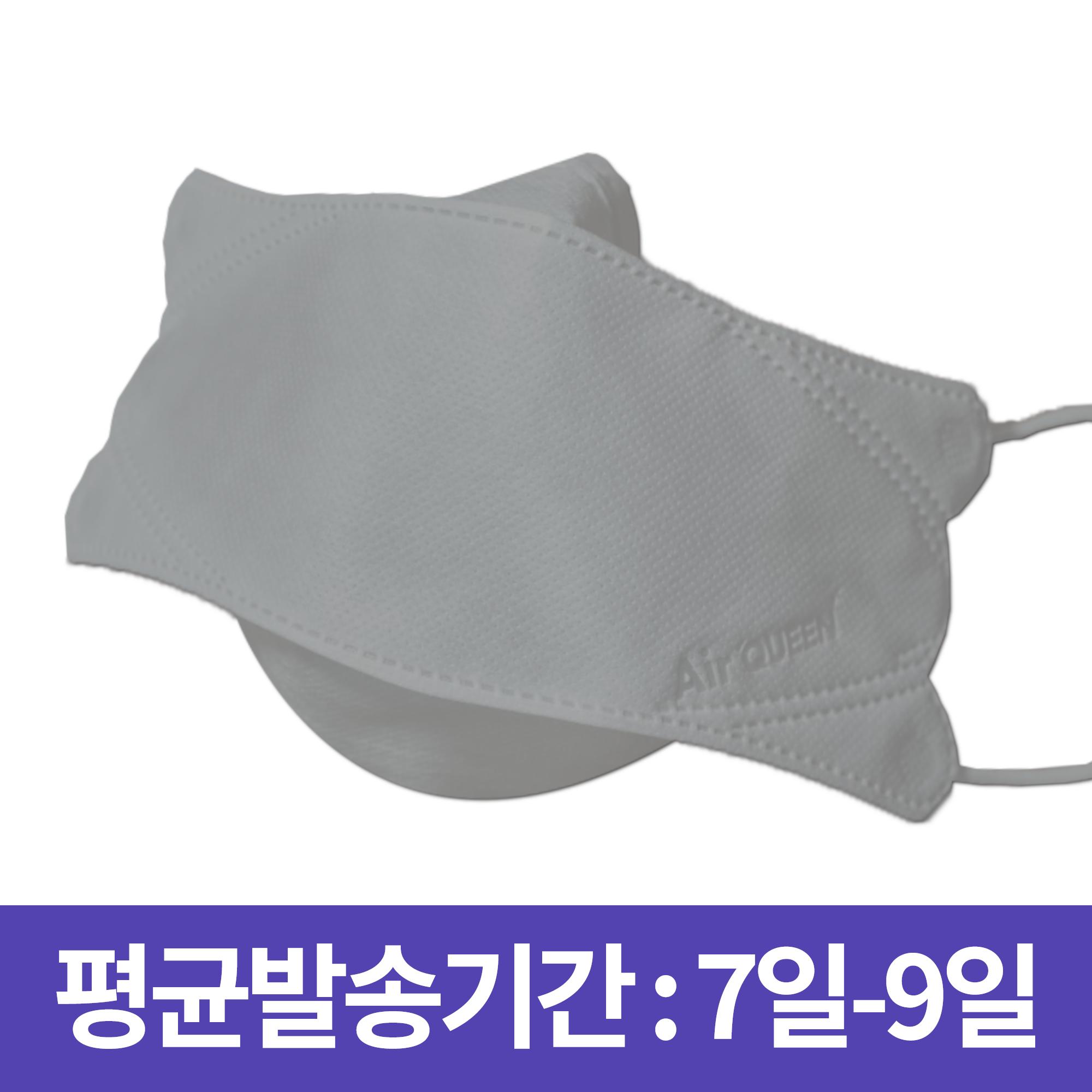 [레몬 에어퀸] 에어퀸 숨쉬기 편한 나노 마스크 10매 흰색, 1개, 10개