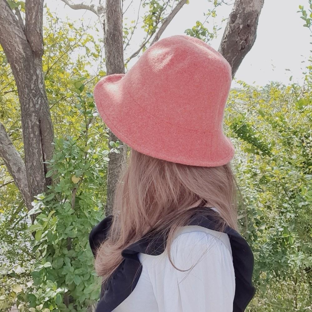[6컬러] 80% 울니트 페미닌 여성스러운 가을 겨울 와이어쉐입 버킷햇 모자