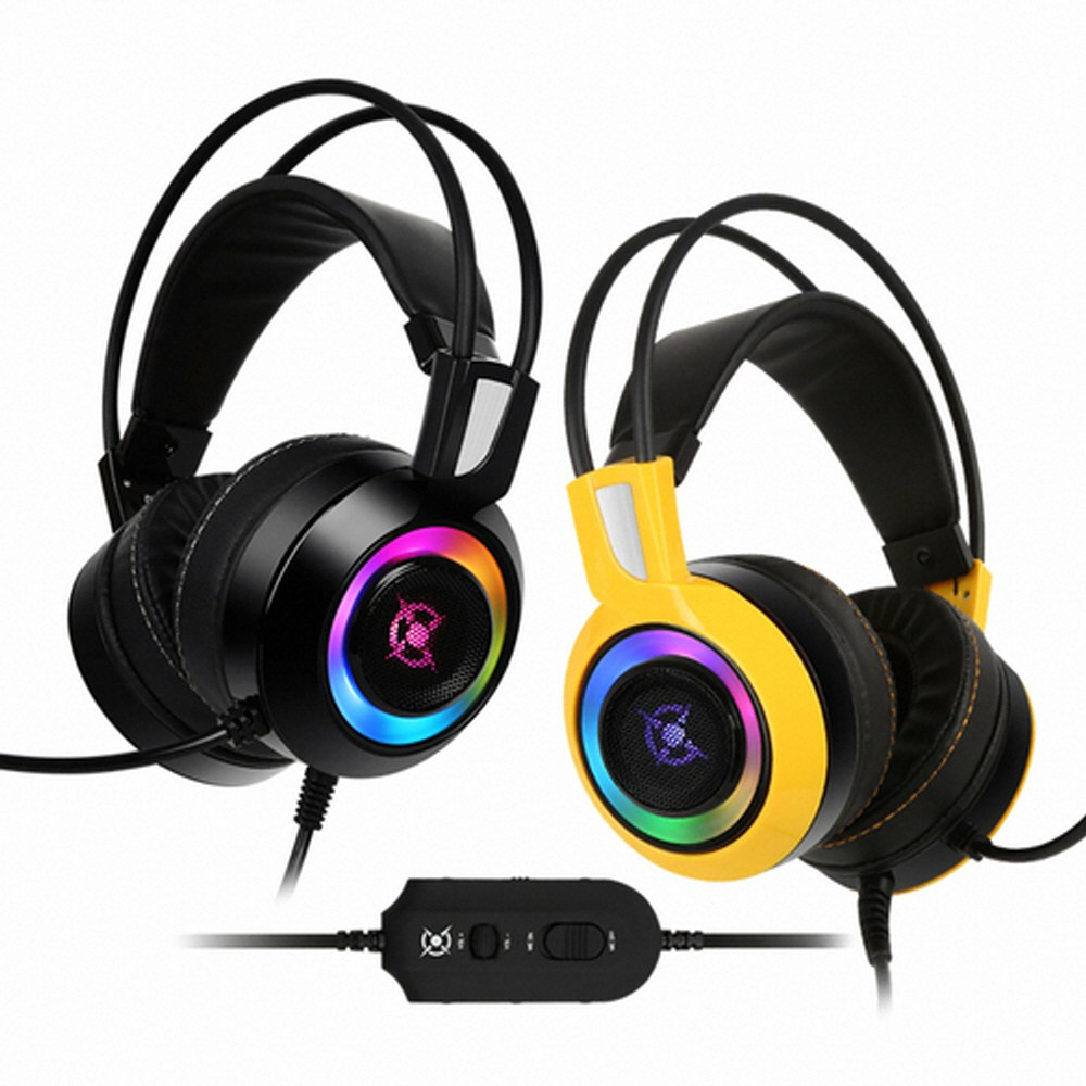 COX CH60 리얼 7.1 진동 RGB LED 헤드셋 양몰