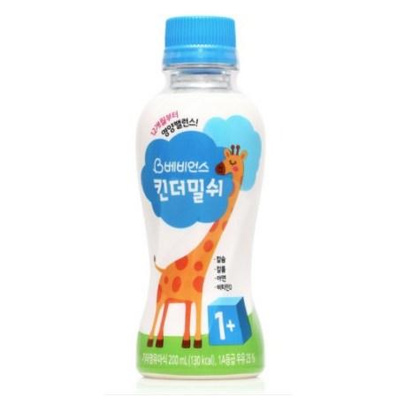 베비언스 킨더밀쉬 우유 1단계 200ml, 108개