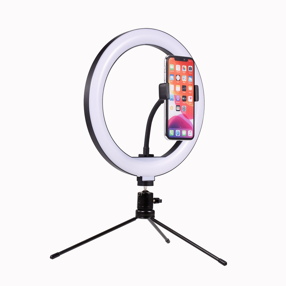 Weiketerui 탁상용 삼각 대 USB 마개를 가진 10inch LED 영상 반지 빛 Selfie 램프, 1개, 10 인치