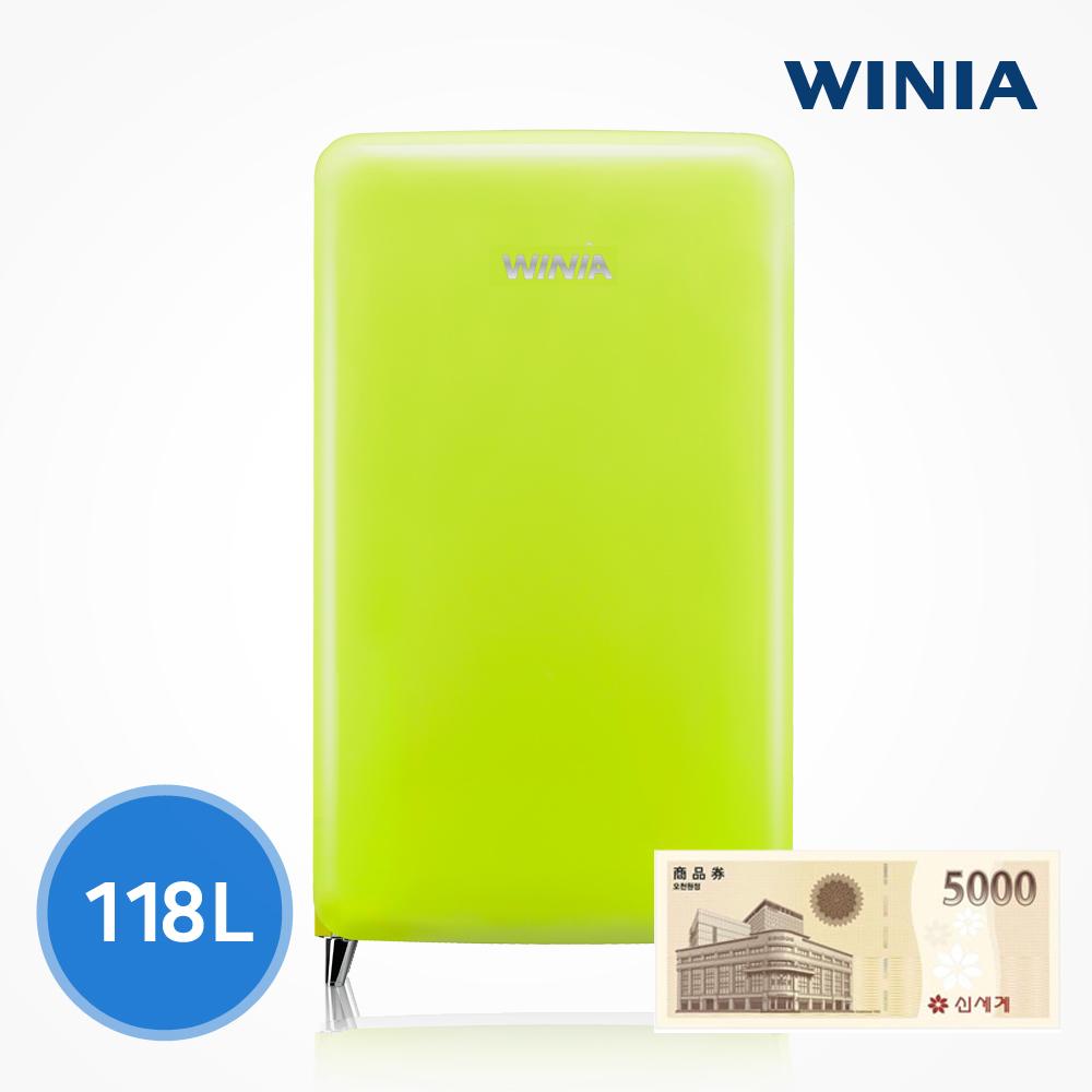위니아 칵테일 프리미엄 소형 냉장고 (118L) ERT118CB, 라임