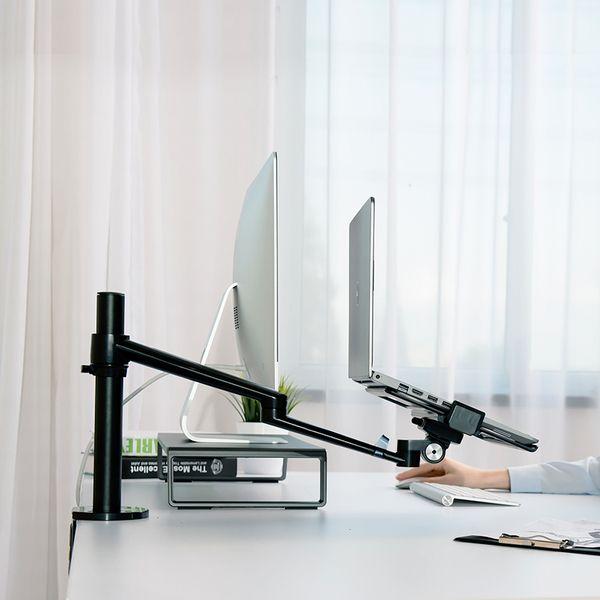 듀얼모니터 맥북 노트북 거치대 책상용 업무용 사무용 프레임 722, 단일색상