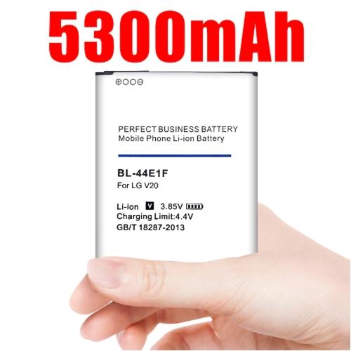으뜸몰 5300mAh BL-44E1F LG V20 배터리 H915 H910 H990N US996 F800L 핸드폰 bl 44e1f 업그레이드 bateria v20