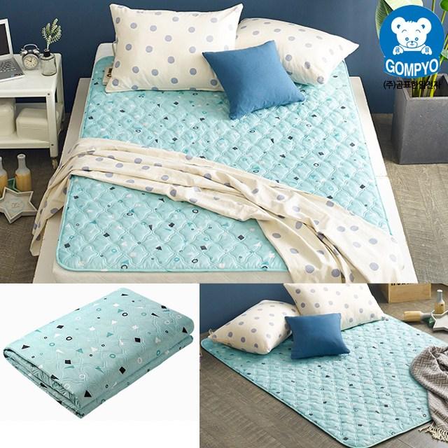 전자파 안심 전기요 침대용 거실용 캠핑용 전기장판 1인용 2인용, 소형(67.5cm × 180cm), 보니 민트