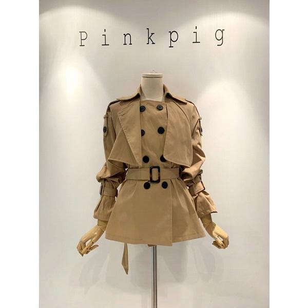 핑크피그 숏 트렌치 자켓(PPA9JK955)