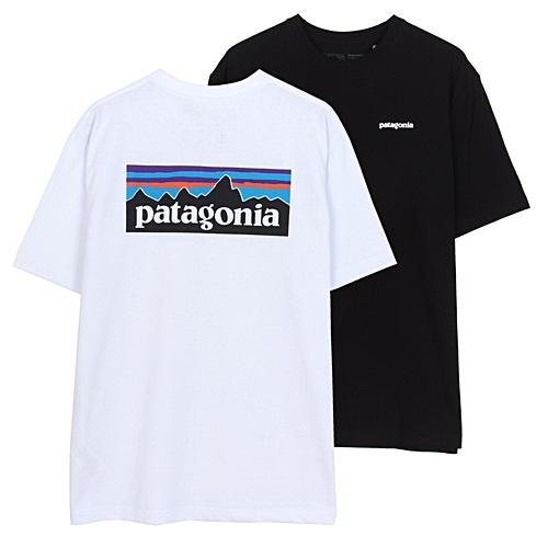 파타고니아 P-6 로고 Responsibili 반팔티셔츠 반팔 티셔츠