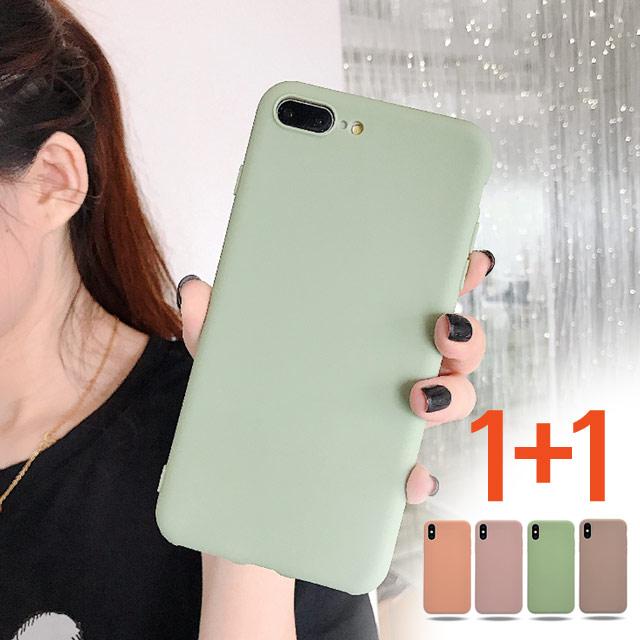 스톤스틸 1+1 아이폰8 아이폰8플러스 파스텔 실리콘 슬림 아이폰 케이스 휴대폰