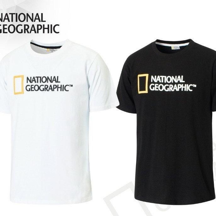 내셔널지오그래픽 남녀공용 84 발포 나염 면 반팔 티셔츠