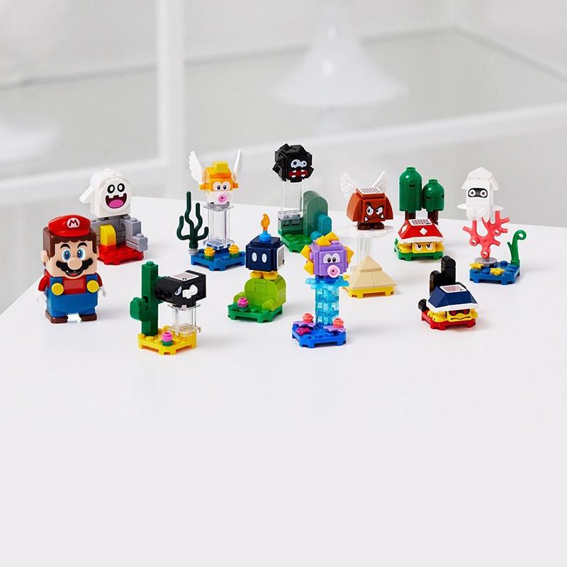 레고 71361 슈퍼 마리오 캐릭터 팩 10 개 세트 키덜트 레고 블록, 71361 가방 10 개 세트가 반복되지 않음 가방이 개봉 및 확인되었습니다.