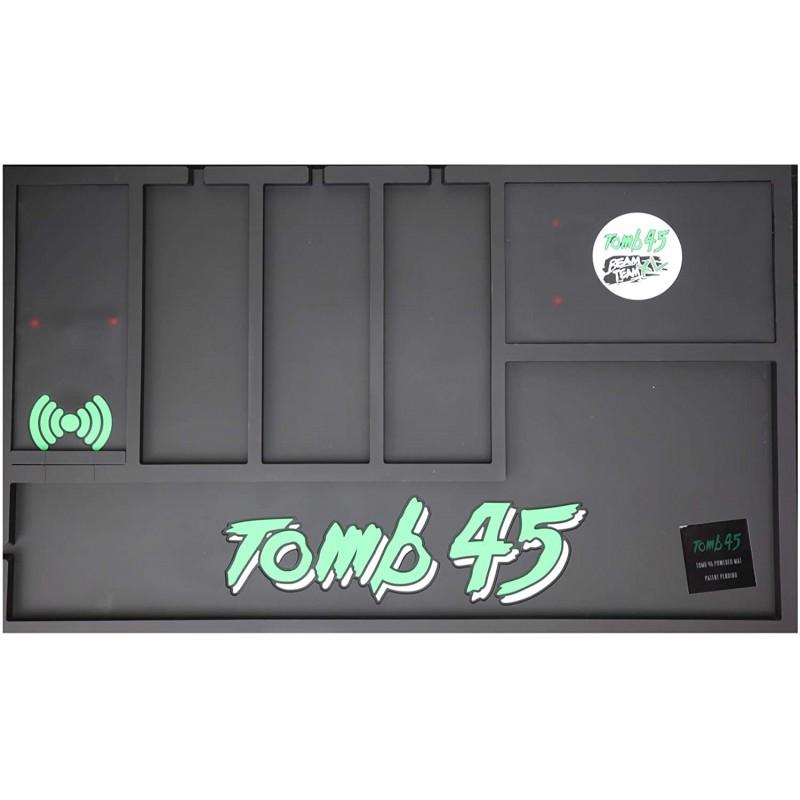 Powered Mat by Tomb45 무선 충전 기능이있는 구성 매트 전화 에어 포드 클리퍼 및 트리머에 부착 된 파워 클립 및 BeamTe, 단일옵션, 단일옵션