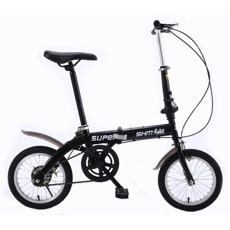 14인치 접이식 자전거 미니 초경량 가벼운 예쁜 출퇴근 산책용 미니벨로 (5단변속), 14 인치cm, 14 인치 단일 속도 저속, 브레이크 검정색