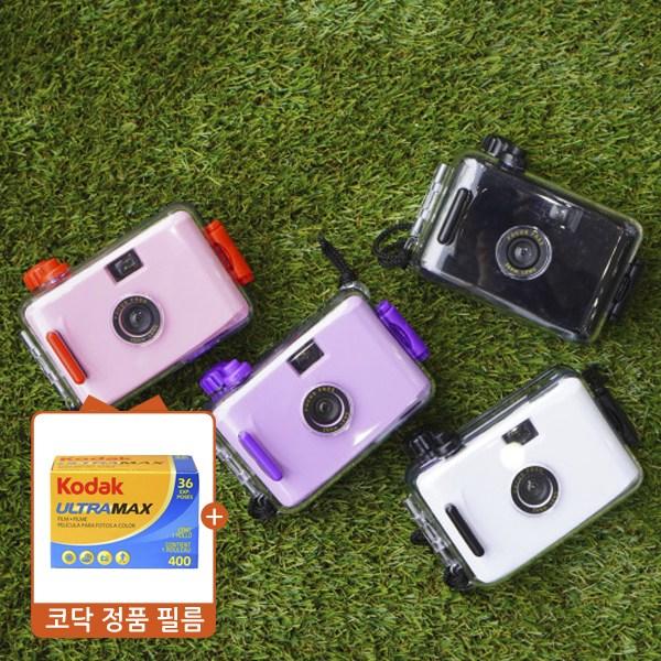 토이카메라 방수필름카메라 + 코닥골드36 필름, 블랙
