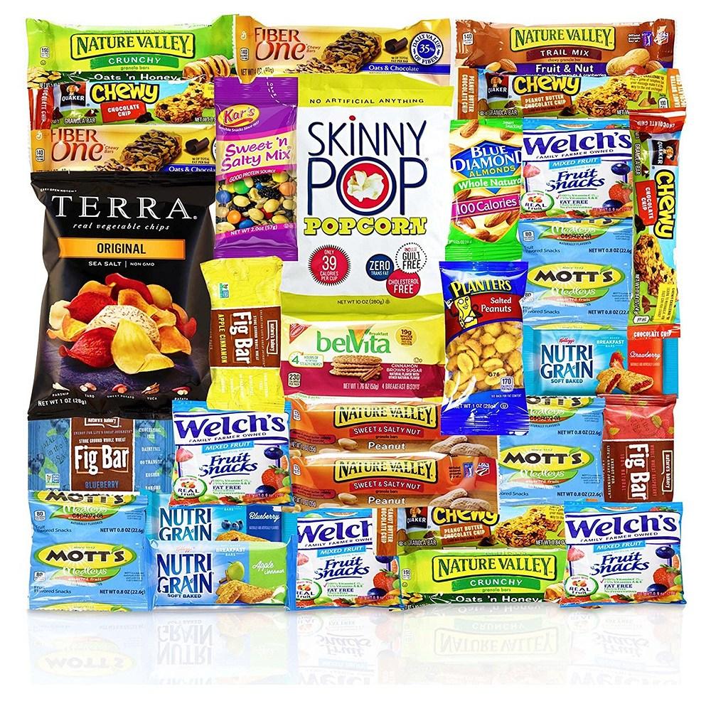 Blue Ribbon Healthy Snacks Care Package 블루 리본 건강한 스넥 간식 패키지 2.65LB 30개입, 1개