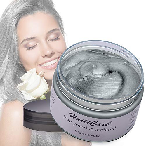 헤어왁스 HailiCare Hair Wax 4.23 oz Professional Pomades Natural Matte Hairstyle Max for Men Women, Color = Silver Grey, 본문참고, 본문참고