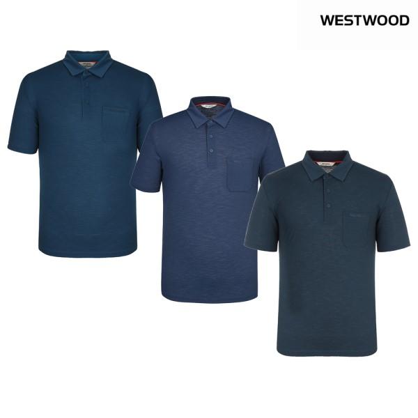웨스트우드 남성 솔리드 폴로 티셔츠 WK2MCTP487