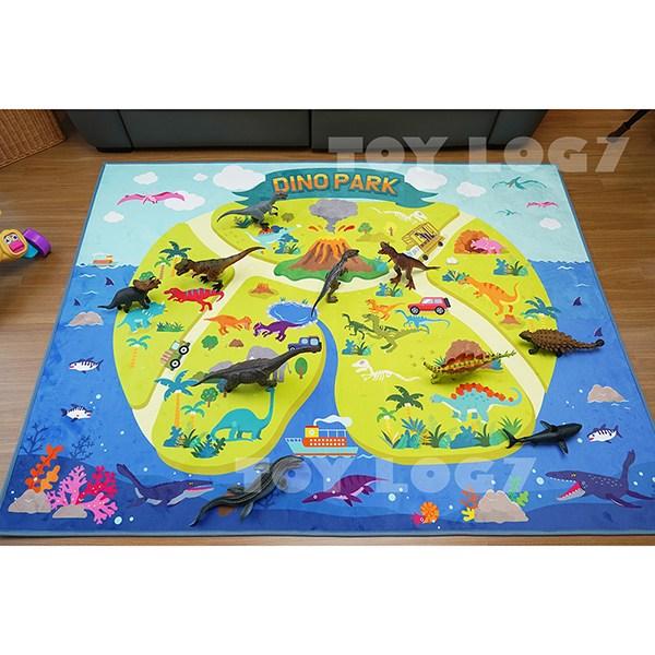 공룡 러그- 아이방 꾸미기 극세사 도로 놀이 매트