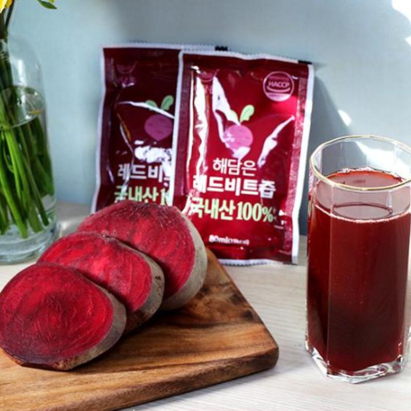 레드비트즙 국내산 100% 면역력에 좋은음식 혈압에좋은음식 부모님선물, 레드 비트즙 100포, 없음