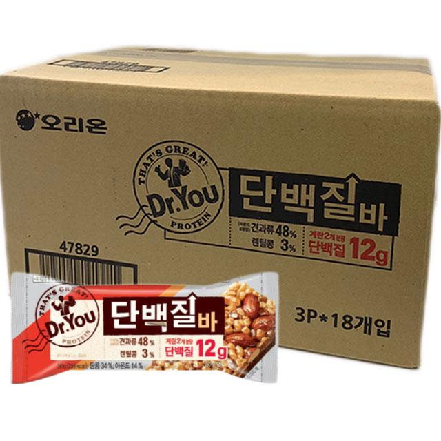 닥터유 단백질바 12g X 54개입 1박스, 1box
