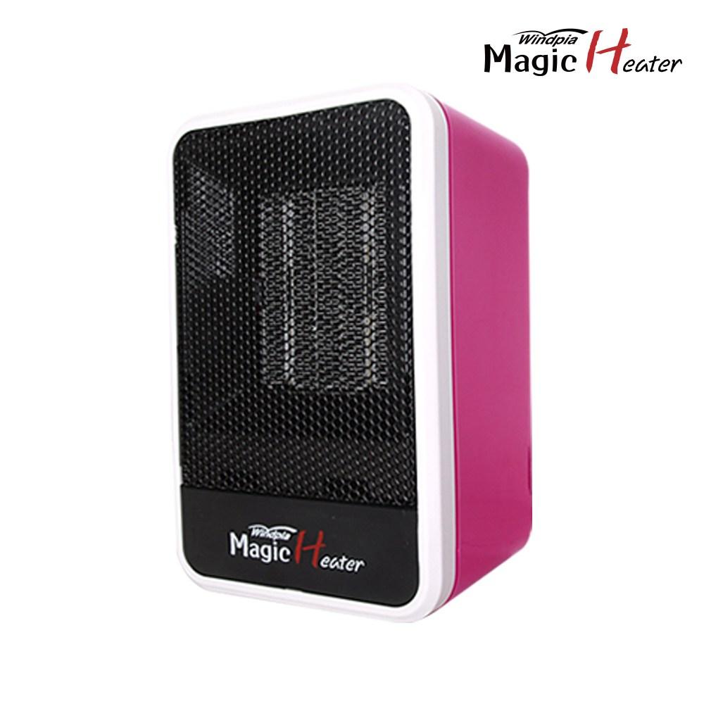 윈드피아 매직히터 타워형 PTC 온풍기, 핑크, WP-505