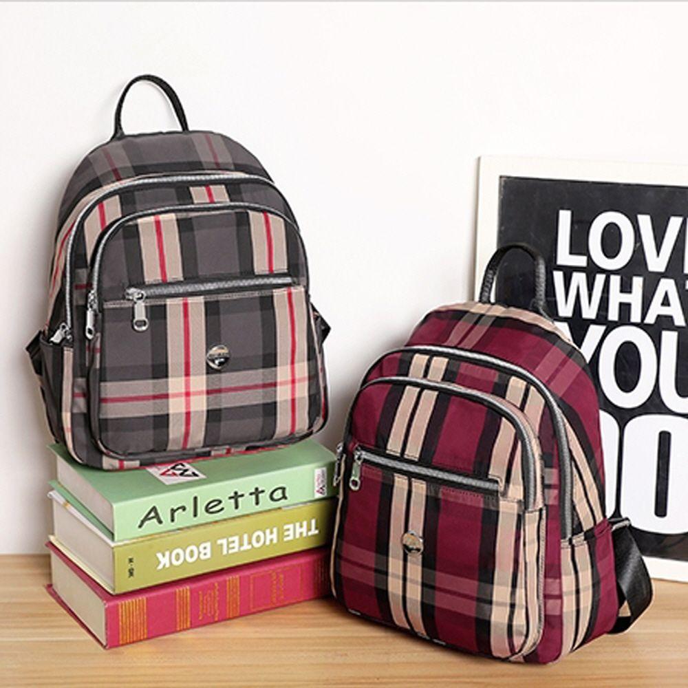 40대 50대 60대 여성 주부 체크 무늬 백팩 배낭 가방