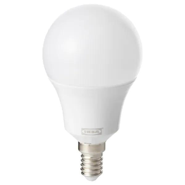 이케아 이케아 트로드프리 Led전구 e14 600루멘 무선밝기조절 화이트 스펙트럼/구형 오팔 화이트, 1개, IKEA 스마트조명 전용전구