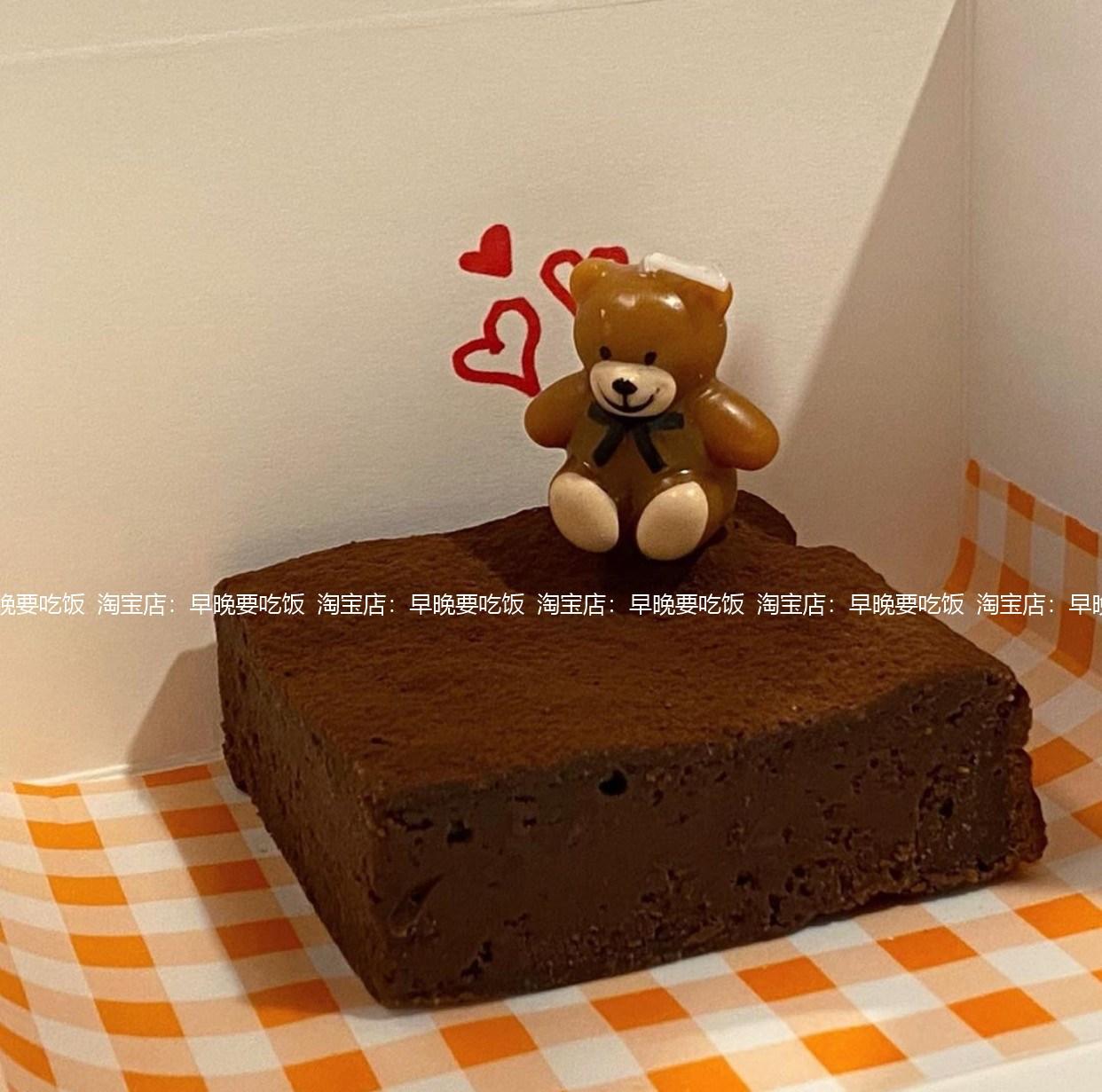곰돌이 초 생일 케이크 주문 케잌 장식 곰 인형 캐릭터 양초 캔들, 브라운 베어