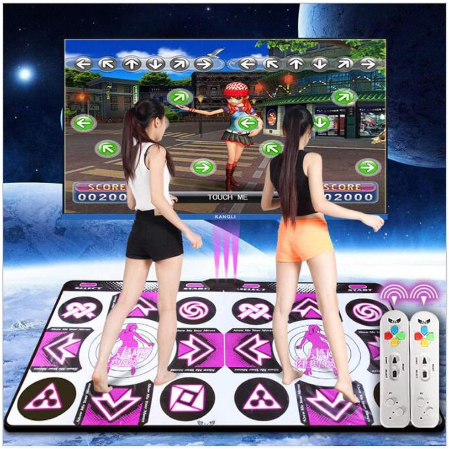 AM ANNA 던블 플레이댄스 DDR PUMP 매트 2인용 티비 컴퓨터 겸용, 1세트, KL-WPS32-11(퍼플)