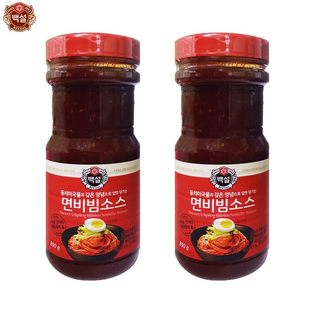 예이니식품 백설 면비빔소스 2개(890g*2개)쫄면냉면국수요리양념장 즉석간편식품 비빔소스 국수장 조미료 양념, 2개