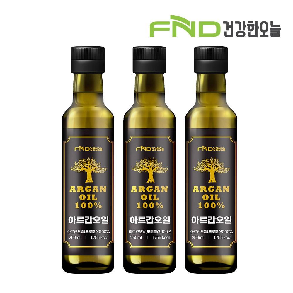 FND건강한오늘 식용 아르간오일 250mL, 3병