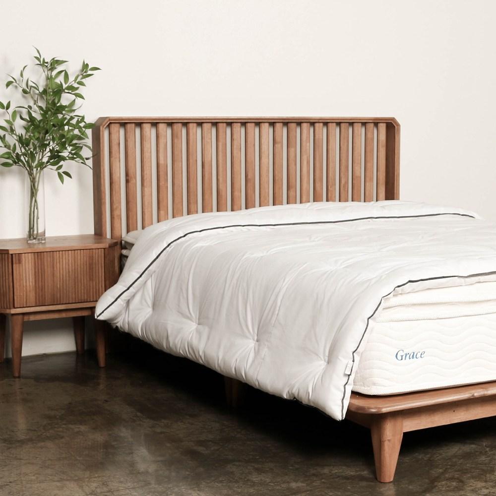 엔투엔 레인 원목 평상형 침대 프레임 애쉬 브라운 슈퍼싱글/퀸/킹/이스턴킹, SS(1200), 애쉬브라운