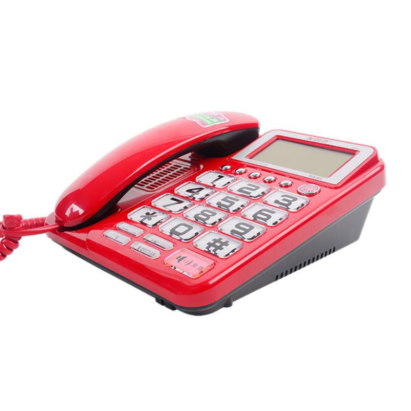 유무선전화기 8013전화기 큰벨소리 대형스크린 큰버튼 가정용 노인전기 타입기계 상점, T02-빨간색 (POP 5524475081)